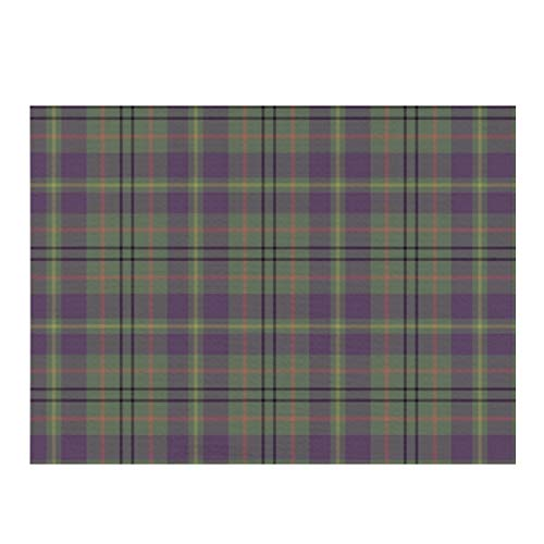 Dish Drying Mat,Taylor Family Tartan Weathered Mauve Absorbent Reversible Microfiber Mat Dish Dry Pad Protector for Kitchen Countertop 12x16inch
