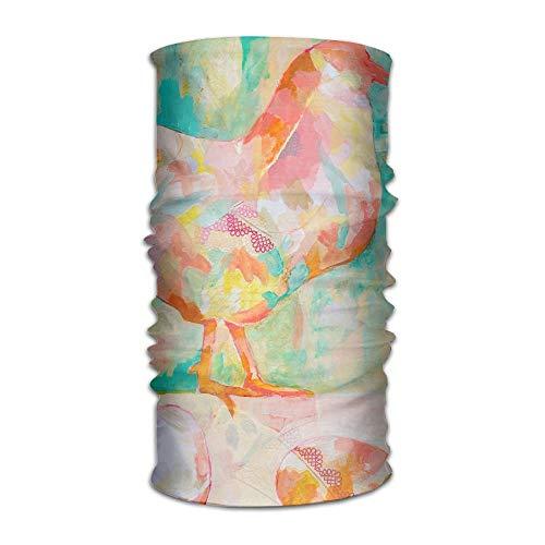 ghjl Rainbow Kip Eieren Multifunctionele UV Weerstand Magisch Gezicht Masker Elastische Hoofdband Bandanas Haar Wrap -Veelzijdige Sport & Casual Hoofddeksels Buiten