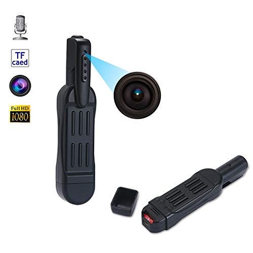 1080 P HD Mini cámara espía Grabadora de reuniones Pluma con grabación en Bucle Videocámara con micrófono para reuniones Aprendizaje Inicio Entrevistas