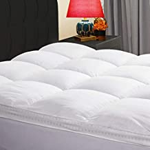 KARRISM Extra Thick Mattress Topper(Queen), Cooling Mattress Pad Cover Topper, 400TC Cotton Pillow Top (8-21Inch Deep Pocket)