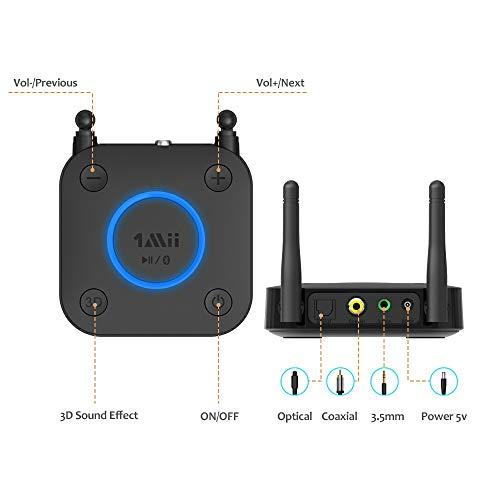 1Mii B03 Long Range Bluetooth 4.2 Transmitter Receiver Bluetooth Audio Adapte...