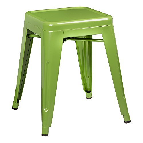 Norwood Commercial Furniture Tolix Style Metal Industrial Stack Stool, Green, NOR-IAH3021-GR-SO (Pack of 2)