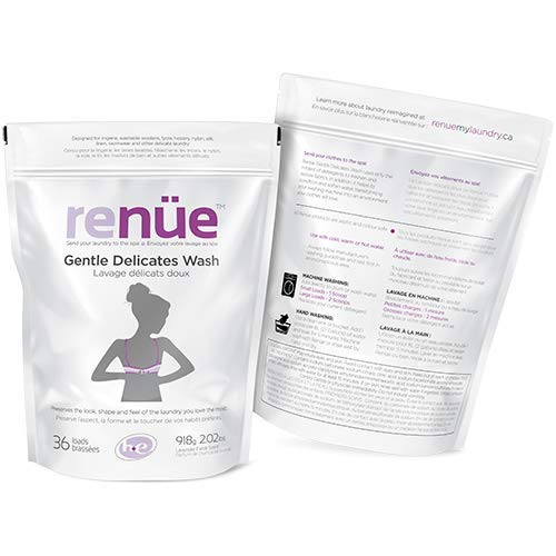 RENUE Gentle Delicates Wash - Lavender Fields - 36 Loads - Premium Delicate Laundry Detergent for Fine Fabrics, Lingerie, Swimwear, Washable Woolens, Lycra, Hosiery, Nylon, Silk, Linen