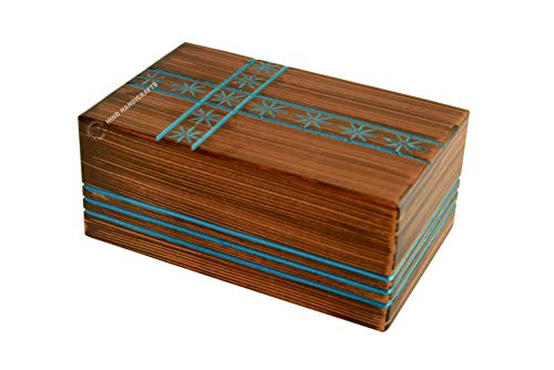 Hind Handicrafts - Urnas de madera para cenizas humanas, tamaño grande para adultos, urnas de cremación de palisandro para cenizas, urnas de entierro para columbario
