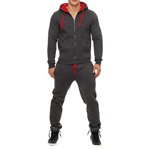 Kratos kleding nieuwe mannen effen Zip up Hooded trainingspak Set