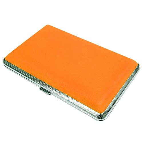 プルームテック ケース (オレンジ) ハードケース PU レザー Ploom TECH PloomTECH ケース カバー スリム コンパクト シンプル 無地 合皮 電子タバコ 保護 収納 ポーチ ホルダー キャリングケース