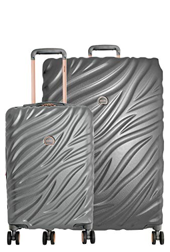 Delsey Alexis Lightweight Luggage Set 3 Piece, Double Wheel Hardshell Suitcases, Expandable Spinner Suitcase with TSA Lock and Carry On (Platinum/Rose Gold, 2-piece Set (21'/29'))