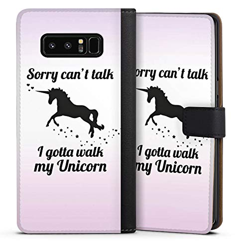 DeinDesign Cover kompatibel mit Samsung Galaxy Note 8 Duos Tasche Leder Flip Hülle Hülle Einhorn Unicorn Sayings