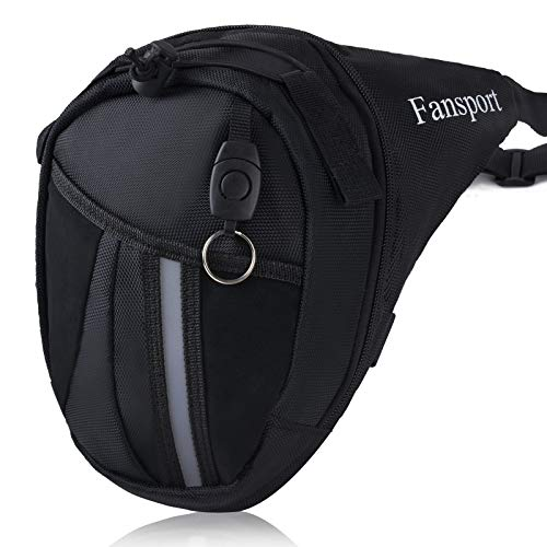 Fansport Drop Leg Bag for Men Tactical Leg Bag Pouch Motorcycle Leg Pouch Bag Drop Waist Pouch Waist Pack for Cycling Riding Traveling Hiking