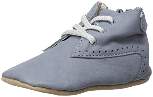 Robeez Baby Girls Elijah Boot Crib Shoe, William - Blue, 3 6 Months Infant