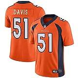 alaxdsd Brǒn-cōs Sudadera de Manga Corta de Jersey NFL para Hombre Camiseta Transpirable Ropa para fanáticos Camiseta Todd Davis#51 Jersey/Yellow/XL
