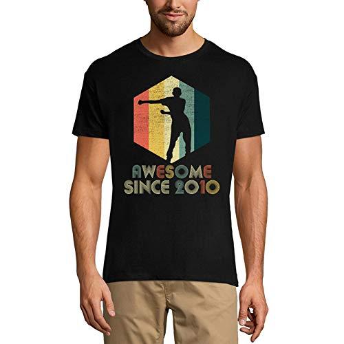 Ultrabasic Camiseta para hombre Awesome Since 2010 – Camiseta de regalo para cumpleaños número 11 - negro - Large