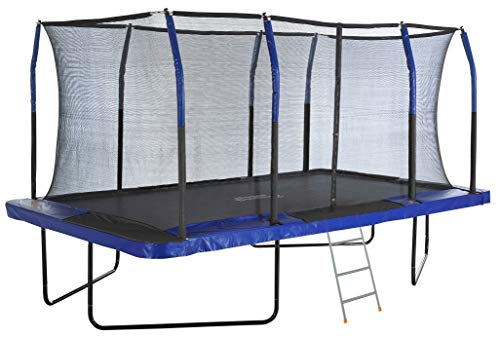 good quality trampolines Outdoor Heights Rectangle Trampoline for Adults, Big Trampoline for Kids,Gymnastics & Rectangular Trampoline with Safety Enclosure