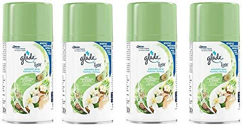 4x Glade by Brise Bali Sandelholz & Jasmin Spray-Nachfüller für Duftspender (4 x 269ml Dose)