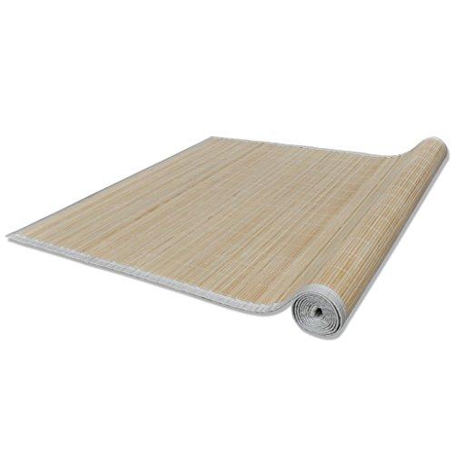 Anself Bambusteppich Läufer Bambus mit PVC-Anti-Rutsch Beschichtung 80cmx200cm Natur