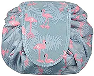 Large capacity Lazy Makeup Toiletry Bag Multifunction Storage Portable Quick Pack waterproof Travel Bag Flamingo
