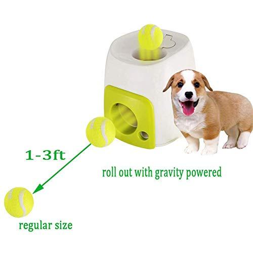 jaspenybow Nahrungsmittelbelohnungsmaschine, mit Tennis IQ Treat Ball Interaktives Festlichkeits-Pet Ballspiel für Hunde Spielzeug-Spiel für IQ Training für Hunde mit Tennisball Interaktives Fetch