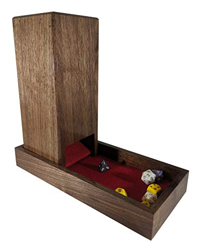 Dice Tower and Tray - Solid Walnut by Souza Custom Woodworking