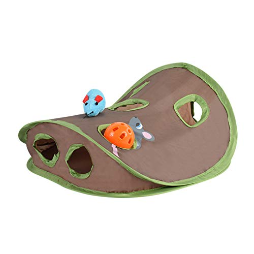 YEES Pet Cat Toy Mouse Hunt Cat Toy Hide Nine Holes Mouse Hole Fun Game Tunnel Folding Tent Exceptional