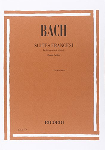 6 Suites Francesi Bwv 812 - 817 por piano forte