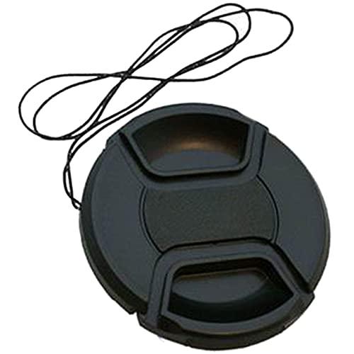 NancyMissY レンズキャップ52mmスナップオンセンターピンチフロントカメラレンズカバーソリッドプラスチックカバーレンズキャップ保護キャップ
