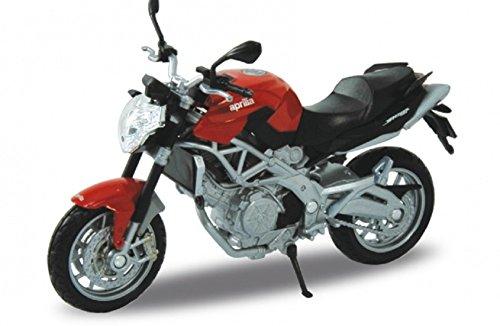 Welly DieCast Modell Motorrad Aprilia Shiver 750 Rot Metall Motorradmodell 1:18