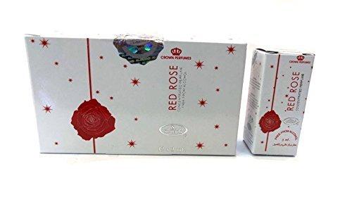 Pack de 12 Musc Parfum Al Rehab Red Rose 3ml 100% Huile