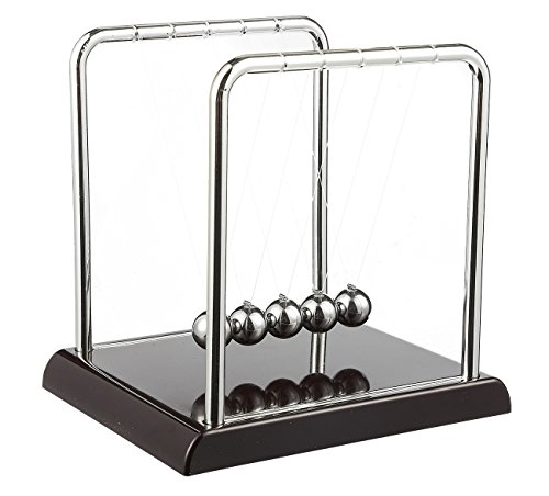 Juvale Newton's Cradle - Demonstrate Newton's Laws with Swinging Balls - Office Desk Decoration, 7 x 7.1 x 5.9 Inches
