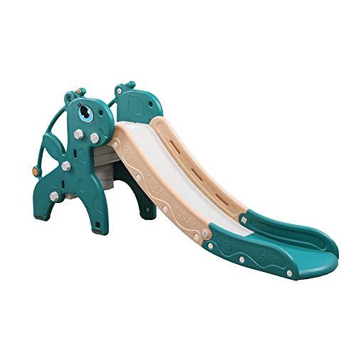 Z-Color Slide Multifuncional Plegable de Almacenamiento Ondulada niños, Que dobla el pequeño Slide Indoor Climbing Juguete amplias Completamente Pasos y Seguridad apretones cercado