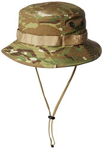 5.11 Tactical Men's Polyester Cotton Adjustable Teflon Boonie Hat, Multicam, Style 89076