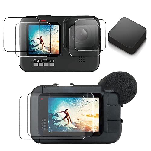 【ActyGo】液晶保護フィルム GoProhero9に適合 メディアモジュラー使用可 3か所×2枚