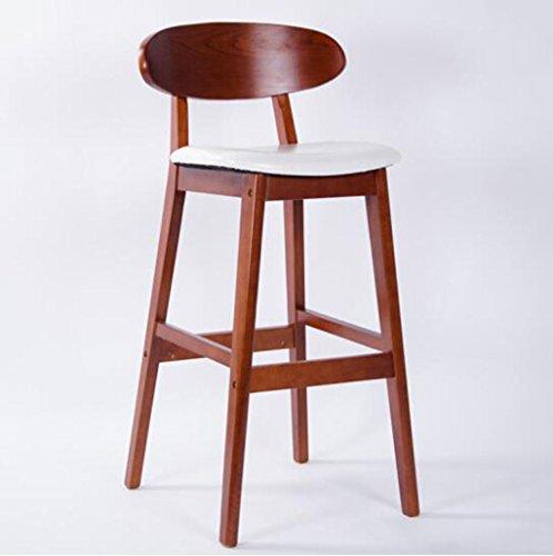 Tabouret en bois Tabouret de bar tabouret de bar en bois massif/tabouret de bar tabouret haut à manger chaise chaise de bureau (Couleur : A1)