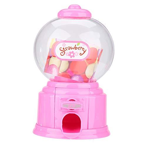 Máquina de dulces para niños, mini dispensador de bolas de chicle, máquina portátil de dulces para niños para cumpleaños, fiestas infantiles, Navidad(rosado)