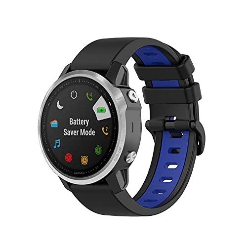 Classicase Compatible con Garmin Fenix 6X Pro/Fenix 6X Sapphire/Fenix 3 / Fenix 5X Plus/5X Sapphire Correa de Reloj, Banda de Reemplazo Silicona Suave Sports Pulsera (Pattern 8)