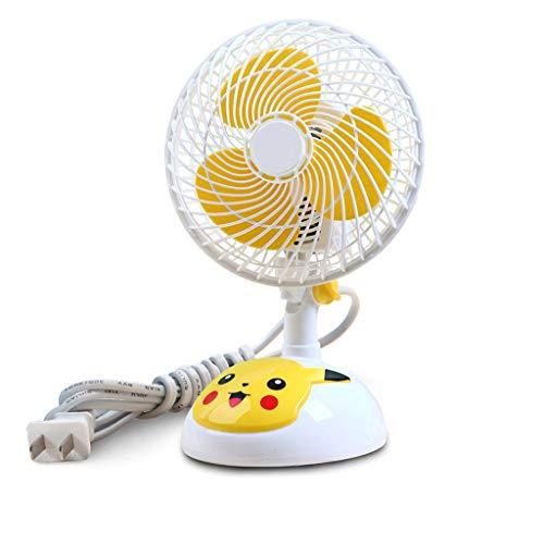 ZhouWanSan miniventilator voor studenten met elektrische ventilator kan het kleine hoofd schudden, muto desktop kantoor Piccolo plug-in cartoon fan mini wind groot geluid