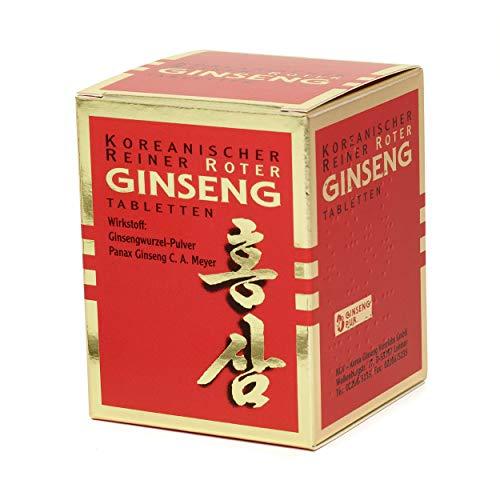 Koreanischer Reiner Roter Ginseng - 200 Wurzelpulver Tabletten (300 mg); freiverkäufliches Arzneimittel   Panax Ginseng C. A. Meyer