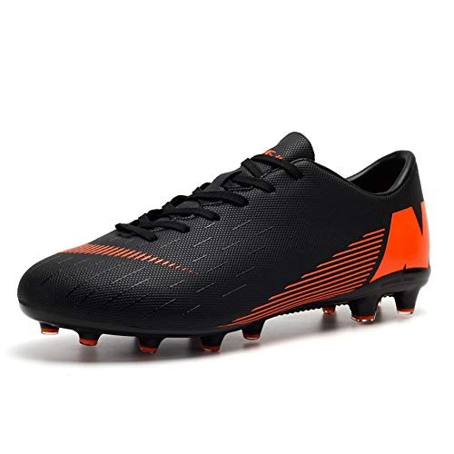 Kinder und Männer AG/TF Fußball Stiefel Teenager Fußball Leichtathletik Training Schuhe Fußballschuhe Damen/Mädchen (40 EU, Black-t)