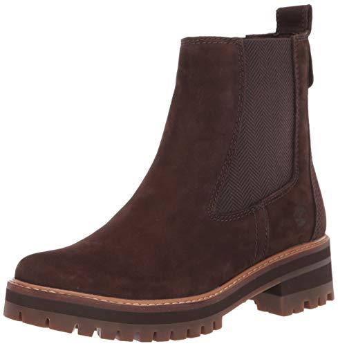 Timberland Women's Courmayeur Valley Chelsea Fashion Boot, Dark Brown Nubuck, 6.5 M US