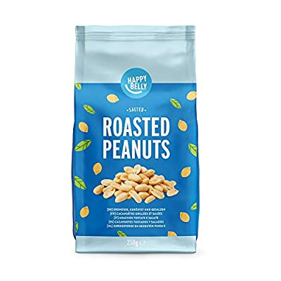 amazon brand - happy belly roasted and salted peanuts 6x250g Amazon Brand – Happy Belly Roasted and Salted Peanuts 6x250g 41O2gOQ0foL