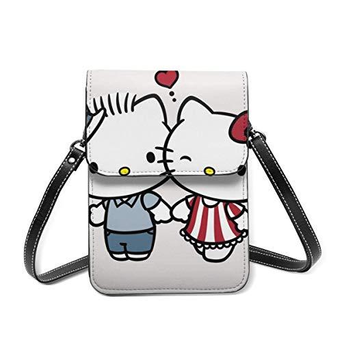 Coppia Hello Kitty Borsa per cellulare Borsa piccola a tracolla Portafoglio Borsa a tracolla Porta carte Borsa per donna