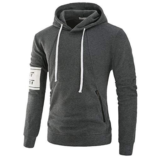 HOSD Brazalete Camisa Capucha suéter Terry Casual con Deportivo Suéter para Color sólido de Hombre