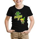 OKIWOKI T-Shirt Enfant Noir Zelda parodique Link : Un Coup de Gueule de héros. (Parodie Zelda)