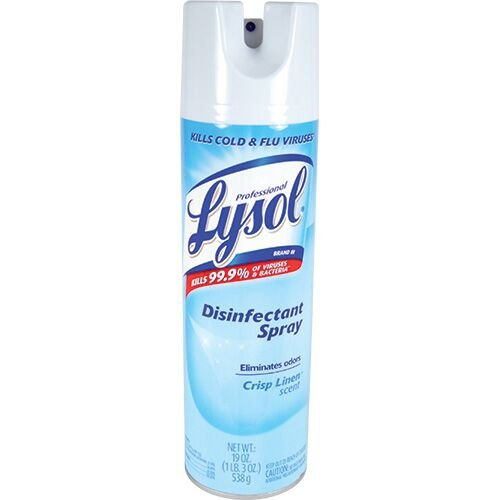 Lysol Disinfectant Spray With Crisp linen Scent - 19 Oz (pack of 6)