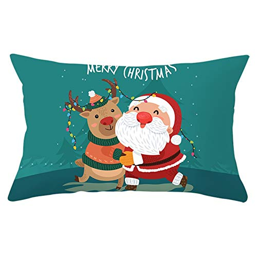 Fundas de Cojines Throw Pillow Case Santa Claus Cojines Decoracion Terciopelo Suave Fundas de Almohada Rectángulo para Sofá Cama Sillas Coche Dormitorio Decorativo Hogar Y5797 Pillowcase,50x70cm