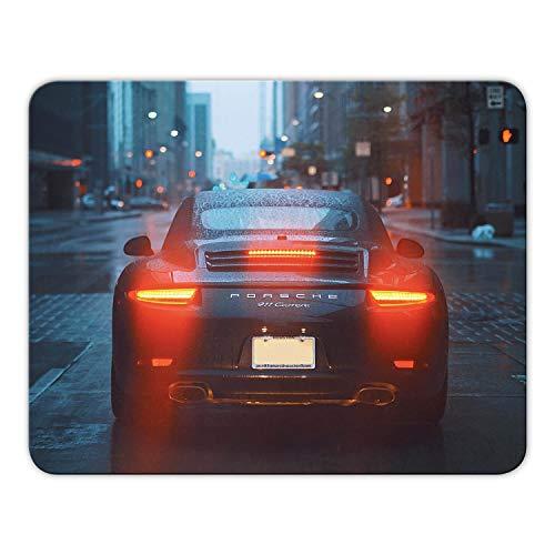 Addies Mousepad 'Porsche' schönes Mauspad Motiv in feiner Cellophan Geschenk-Verpackung mit Kautschuk Untermaterial, 24x19cm - MP03