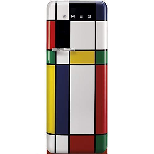 SMEG FAB28RDMC3 - Frigorifero Monoporta con Congelatore SMEG Estetica Anni '50 Ventilato 270 Lt Multicolor con Apertura a Destra Classe A+++