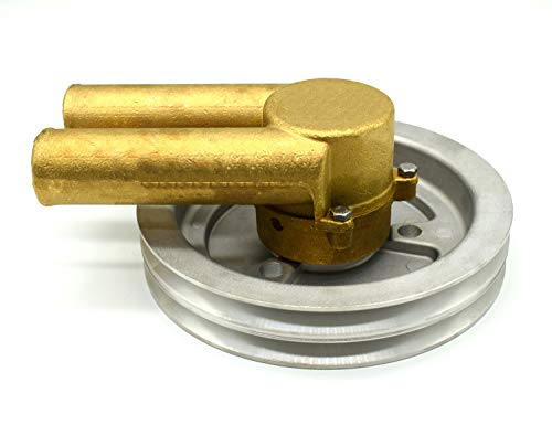 21214596 Sea Water Pump Compatible with Volvo Penta Belt Pulley 4.3 5.0 5.7 Engines Replace 21214596 3858229