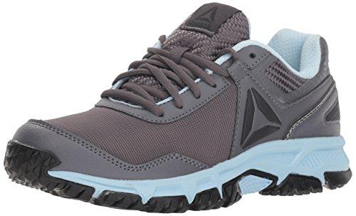 Reebok Women's Ridgerider Trail 3.0 Walking Shoe, ash Grey/Dreamy Blue/blac, 9.5 M US