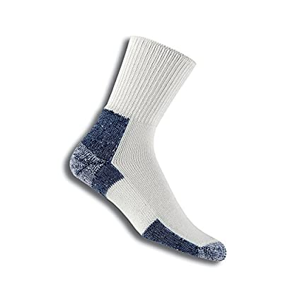 Thorlos XJ Max Cushion Running Crew Socks, White/Navy, Extra Large