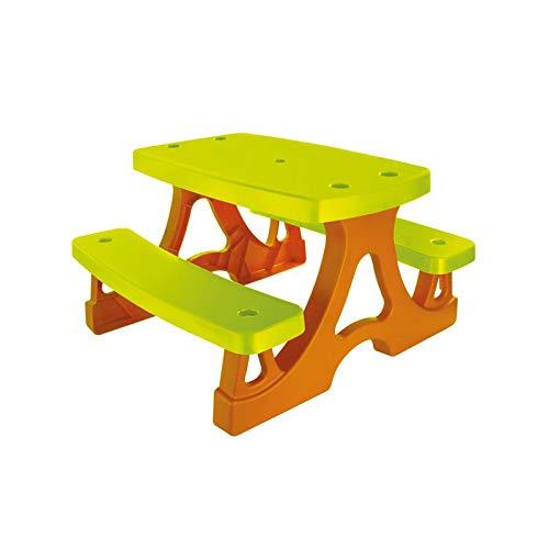Woopie Kinder Picknicktisch mit Bank Indoor Outdoor Aktivität Gartenmöbel Set Spielzeug Garten Sitzterrasse